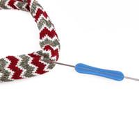 1 Шт. Швейные иглы с двойной головкой Алюминиевые крючки для вязания Иглы для вязания переплетения Ремесла Крючки для вязания Вышивка крестиком Инструмент для вышивания