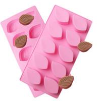 Cioccolato stampo in silicone Strumento 10 fori vassoio di figura di foglio della torta del sapone della gelatina della caramella biscotti modellano pasticceria che decora gli attrezzi