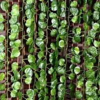 2,4m Ivy League Artificial Scillapsus aureus Leaves Vine Malus Spectabilis Vine Grape Vine Plants Hem Garden Dekoration