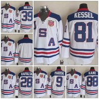 Cheap 2010 Team USA Ice Hockey Jersey Zach Parise Jamie Lang...