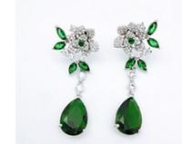 mode bas prix haute qualité en gros 2pcs / lots diamant boucles d'oreilles de la dame 32.5yuy