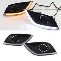 1 par LED Drl Daytime Running Lights Daylight Head Lamp para Nissan Almera Latio Sunny Versa 2014 2015 2016 2017 2018