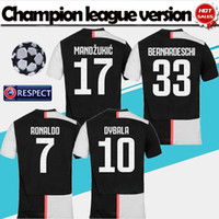 Ligue des champions Version 2019 # 7 Maillots de football RONALDO Domicile 19/20 T-shirts de soccer adultes de qualité supérieure # 10 uniformes de football DYBALA