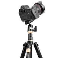 2019 المهنية للتمديد qzsd Q555 55.5 بوصة سبائك الألومنيوم كاميرا فيديو ترايبود monopod مع سريعة الإصدار بلايت حامل dhl