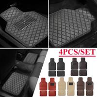 Pelle universale anteriore della parte posteriore dell'automobile Tappetini Pad Car Carpet Mats impermeabile anti-sporco antiscivolo Piano per la maggior parte auto nere