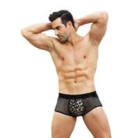 الملابس الداخلية مصمم G سلسلة الجوف خارج الشاش سليم سراويل الذكور الرباط موضة سراويل الرجال مثير ليوبارد الملاكمون