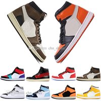 2019 1 OG Travis Scotts basketball shoes mens women Spiderma...