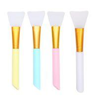 Vôsaidi pennelli in silicone Maschera pennello flessibile viso spazzola delle spazzole del fronte a Skincare strumento Body Lotion applicatore Strumenti