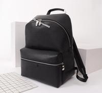 En Kaliteli yeni stil Lüks tasarım Erkek çift omuz sırt çantası marka kadın Laptop Çantası Büyük Öğrenci Bookbag deri açık seyahat çantaları