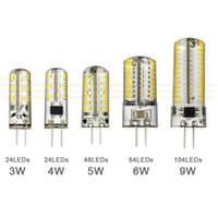 G4 12V110-220V LED 옥수수 램프 3W4W5W6W9W LED3014 옥수수 전구 실리콘 램프 크리스탈 샹들리에 가정 장식 조명