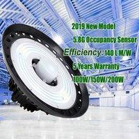 nuova alta luminosità 100w 150w 240w UFO alta baia illuminazione laboratorio luce magazzino con sensore di presenza di movimento 3000K 4000K 6500K
