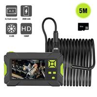 1080P HD 4.3 '' شاشة LCD فحص للماء المنظار الصناعي، 1.57-197 بوصة المسافة البؤري الأفعى كاميرا مع 8 قابل للتعديل ضوء LED