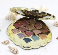 Dropshopping laser 14 colori glitter shimmer matte Pigmented Diamond Glitter sirena ombretto piatto shell ombretto palette