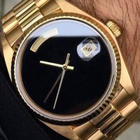 Gold silver watch Classic men 36mm automatic mechanical watc...