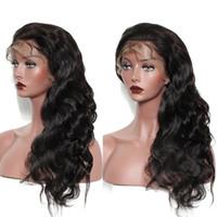 Msjoli pleine dentelle perruques corporelles cheveux humains brésilien péruvien péruvien indien fauve ondes de dentelle frontale cheveux haneps avec cheveux