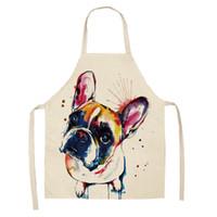 Moda Cães Coloridos Impresso Aventais Bibs Casa Cozinha Cozimento Festa Engraçado Limpeza Aventais Cozinha Acessórios