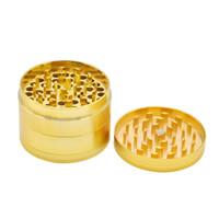 63mm tabaco Grinder 4 capas aleación de oro tabaco amoladoras de metal moleta de la mano pimienta molinos fumadores 60pcs Accesorios CCA12096