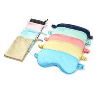 جودة عالية المألوف لينة مخصص غطاء الحرير السفر ليلة النوم قناع العين مع شريط حزام مرن للنوم