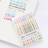 اللوازم Futurecolor كتابة فرشاة القلم الملونة أقلام ماركر مجموعة للحصول على الخط رسم هدية الكورية القرطاسية الفن
