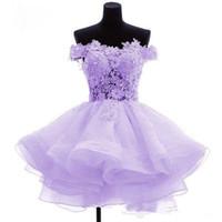 귀여운 민트 그린 칵테일 홈 커밍 드레스 짧은 핑크 이브닝 가운 어깨 레이스 라인 특별 행사 여성 미니 댄스 파티 드레스