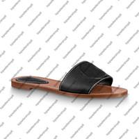 LOCK IT FLAT MULE Frauen Kreis auf dem Kalbslederband-Laufsohle Sommer Strand Pantoffel Glänzende Schuhe Gummirutschen