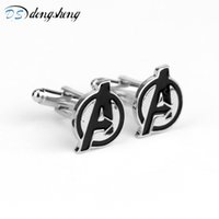 dongsheng Fashion Movie Jewelry Marvel The Enamel Cuff Links...