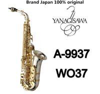 Marca NEW YANAGISAWA A-WO37 Sassofono nichelato Gold Key professionale YANAGISAWA Super Gioca Sax Bocchino con il caso