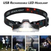 XPE + COB Led Scheinwerfer-Scheinwerfer-USB aufladbare-Kopf-Licht-Arbeits-Licht Kopflampe Camping Scheinwerfer Auto Inspizieren