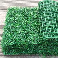25 * 25 سنتيمتر الاصطناعي العشب البلاستيك boxwood حصيرة توبياري شجرة ميلان العشب للحديقة المنزل متجر الزفاف الديكور النباتات الاصطناعية XD23060