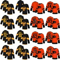 2019 Estádio Série Pittsburgh Philadelphia Flyers Hockey Jerseys 30 Matt Murray 17 Wayne Simmonds 93 Jakub Voracek 19 Nolan Patrick Jerseys