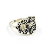 Atacado S925 prata esterlina anel de montagem montagens antiga lotus anel para o transporte livre ring abertura regulável mulheres pérola de jóias diy