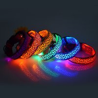 8Colors 4Sizes Night Safety LED Light Flashing Glow Nylon Pe...