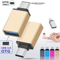 Convertitore adattatore di metallo USB 3.1 Tipo C adattatore OTG Maschio a USB 3.0 A convertitore femmina adattatore otg per Samsung Android
