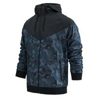 Marque Designer Hommes Vestes Manteau Sweat-shirt à capuche automne camouflage coupe-vent à manches longues Designer Sweats à capuche Zipper Vêtements pour hommes à capuchon M-3XL