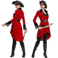 Yetişkin Kadın Korsan Kostüm Bayan Bayanlar Cadılar Bayramı Yüksek Seas Wench Seksi Parti Fantezi Elbise Kıyafet MS4212 bir boy ...