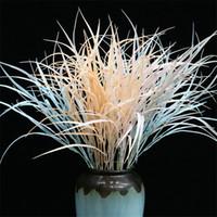 """Gefälschte Short Stem Aquatic Reed (5 Stiele / Stück) 29,52 """"Länge Simulation Kunststoff Bulrus für Hochzeit Home Showcase Dekorative Kunstpflanzen"""