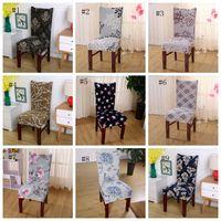 Spandex Sandalye Elastik Yemek Kılıf Karşıtı kirli Çıkarılabilir slipcovers Ziyafet Düğün Yemeği Restoran Dekor 37 Tasarımlar DSL-YW1521 Kapaklar