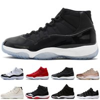 de5b7d4a89a5f Concord 45 23 11s Platinum Tinta Cap and Gown Uomo Scarpe da Basket Gym Red  Bred