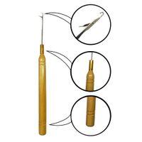 3шт / много крючка деревянной ручки крючок Набор металл вышивка Ремесло игла DIY Вязание Шитье Плетение инструментов