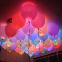 Bola redonda Vaso LED Globo Luces Mini Flash Lámparas Luminosas para Lantern Bar Decoración Del Banquete de Boda de Navidad