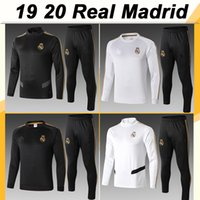 19 20 Real Madrid Training Suit Football Jerseys HAZARD SERG...