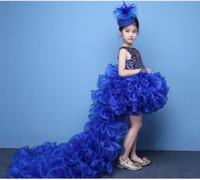2019 Vestidos para chicas Vestidos de alta calidad para niños Desfile de princesa Falda Fiesta de chicas Vestido de baile de belleza Vestidos de noche