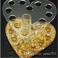 Nailart - Naildesign - Nails أدوات مسمار الفن 12 الثقوب الفضة والذهب حامل القلم مسمار الفن لصالون واستخدام DIY