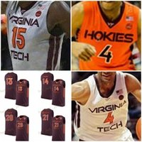 Personalizado Virginia Tech Hokies Basketball Jersey Qualquer Nome Número 30 Dell Curry 4 Nickeil Alexander-Walker 5 Justin Robinson 13 Ahmed Colina