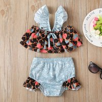 One-Pieces Baby Clothes Girls Swimwear Summer Bikini Set For Kids Girl Sleeveless Cartoon Ruffle Swimsuit Outfits Bikinis Mujer