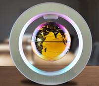 """4 """"LED Yenilik Manyetik Kaldırma Yüzen Küre LED Yüzen LED Işık Ile Ev Dekor Ofis Süsleme Tellurion ABD / AB / İNGILTERE Tak LLFA"""