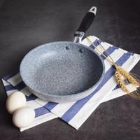 Estilo japonês Arroz Pedra panela antiaderente frigideira com anti-escaldar manusear instrumentos Frying Pan Fogão de cozinha