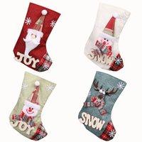 23 * 15см Рождественский чулок подарочные пакеты Рождественская елка для детей конфеты мешок чулки Prop носки украшения Xmas GGA2800