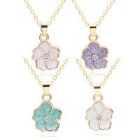 قلادة القلائد 30 اللون الشمس زهرة النباتات اللوتس سحر قلادة صغيرة بوذا لوتس البتلة سلسلة سيدة النساء هدية مجوهرات