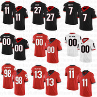 Nick Chubb Jake Fromm Elijah Holyfield d'Andre Swift Roquan Smith Fields NCAA UGA Custom Georgia Bulldogs College Football Jerseys